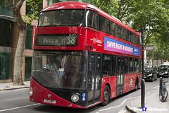 Wrightbus NRM NBFL - LTZ 1187 - LT187 - Victoria 38 - Arriva - London 2017 - Steven Gray - IMG_1120