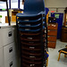 Plastic stacking chair E12