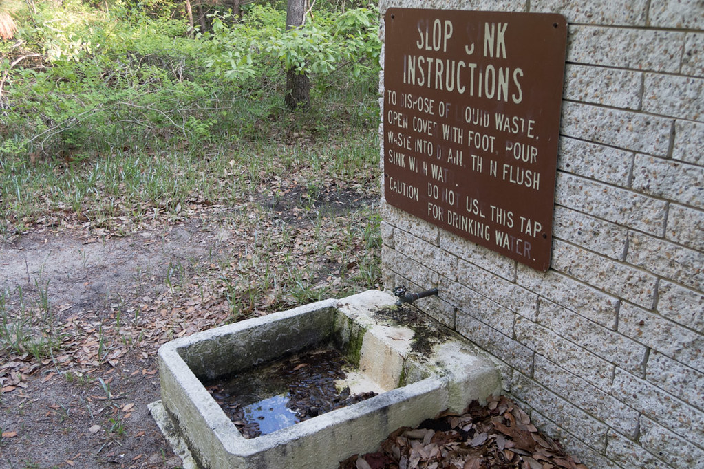 Slop sink at First Landing State Park