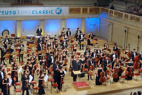 Concert à Berlin de l'orchestre philharmonique national des jeunes de la Turquie