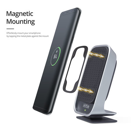 Itap wireless qi fast charging magnetic car mount 8