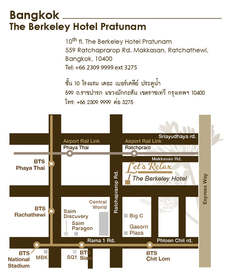 Let's Relax Berkeley Map