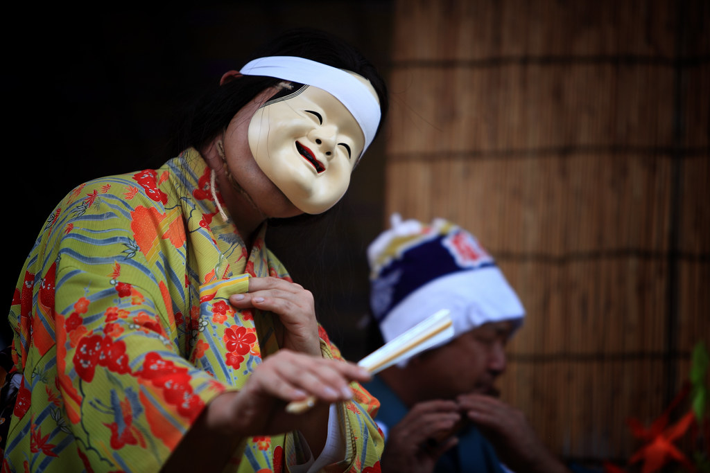 Traditional Japanese Character At The Kawagoe Festival