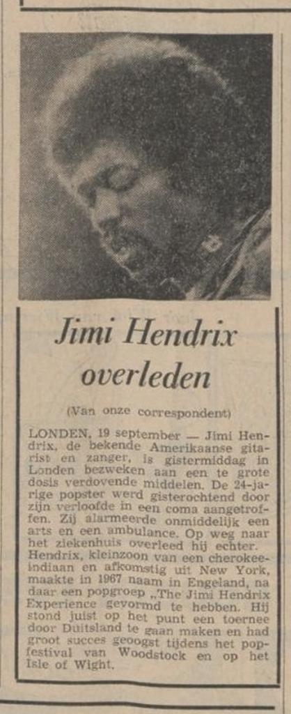 LIMBURGSCH DAGBLAD (NETHERLANDS) SEPTEMBER 19, 1970