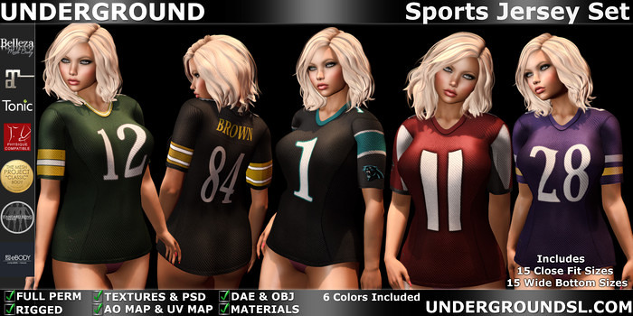 Sports Jersey Female - SecondLifeHub.com