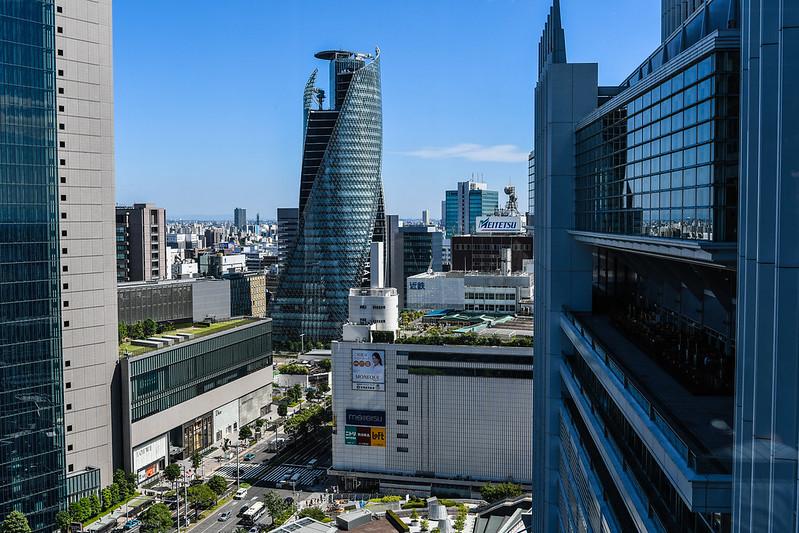 名古屋JRゲートタワー15階のスターバックスから見える景色