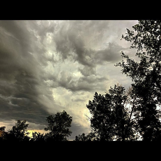 Awesome #storm clouds earlier tonight.