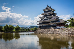 Matsumoto castle, at noon.