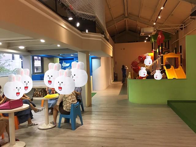 二樓有一座球池與休息區@高雄童樂島親子餐廳