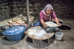Woman Making Naan Bread, Alem Village, Kars, Turkey