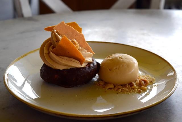 Salted Caramel Choux Bun at Duck & Waffle | www.rachelphipps.com @rachelphipps