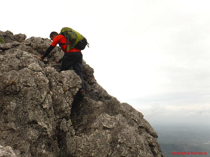 climbing Nipple Rock
