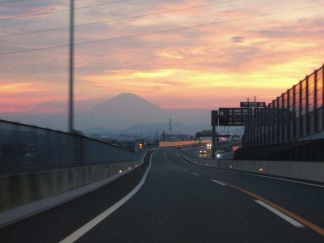 夕暮富士山