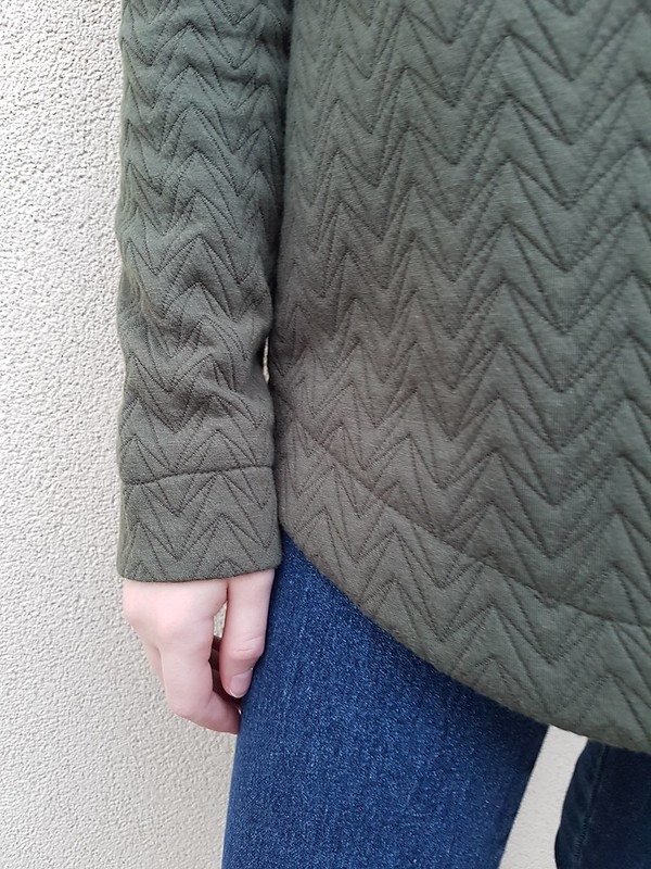 Style Arc Josie hoodie in quilted knit from Darn Cheap Fabrics