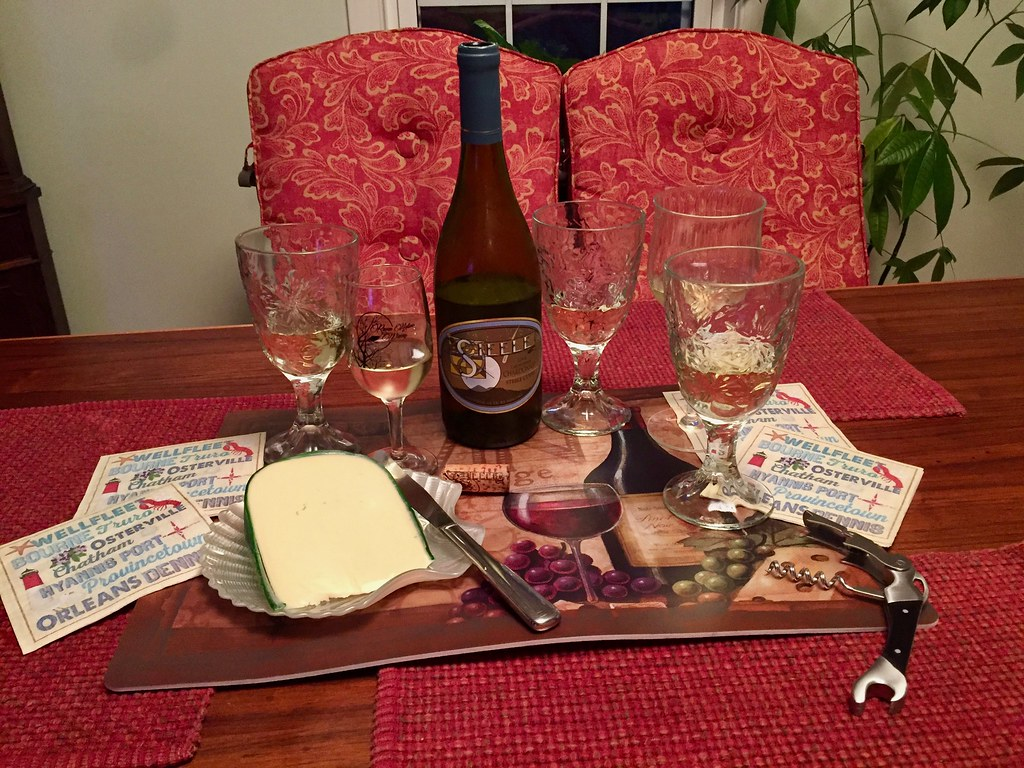 Steele Chardonnay and Yancey's Fancy Champagne Cheddar Cheese 1