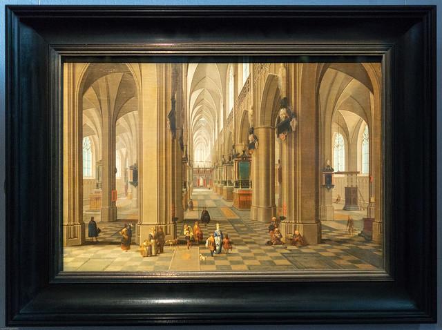 Pieter Neeffs I: Interieur van de kathedraal van Antwerpen