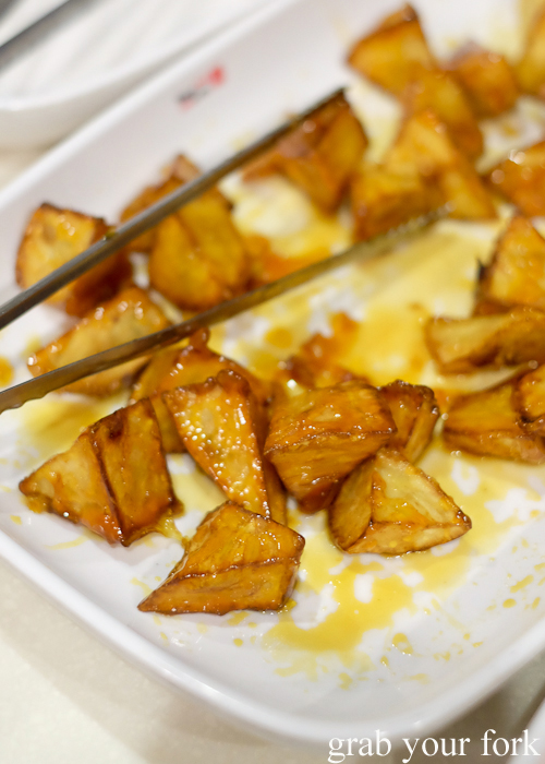 Candied sweet potato at Yass Korean BBQ Buffet in Strathfield Sydney
