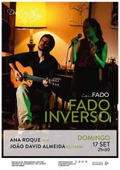 CONCERTO IN FADO - Duetos da Sé - Alfama Lisboa - DOMINGO 17 SETEMBRO 2017 - 21h30 - FADO INVERSO - Ana Roque - João David Almeida