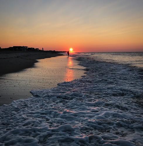 glow fireislandnewyork silhouette beach ocean sunrise fairharbor fireisland