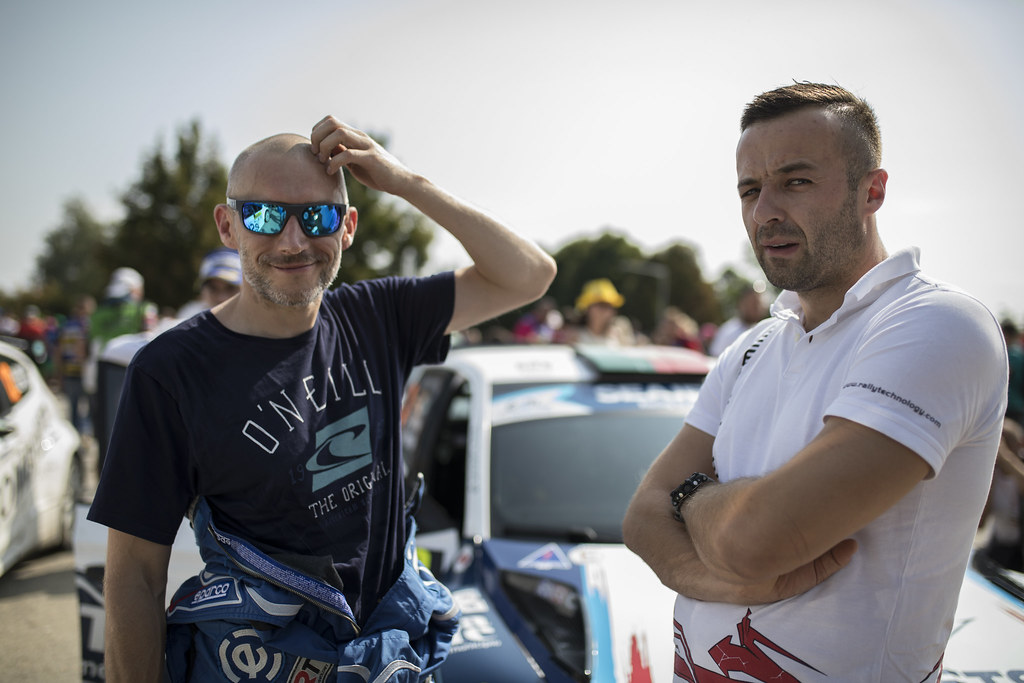 HABAJ Lukasz (POL) DYMURSKI Daniel (POL) Ford Fiesta R5 ambiance portrait during the 2017 European Rally Championship ERC Barum rally,  from August 25 to 27, at Zlin, Czech Republic - Photo Gregory Lenormand / DPPI