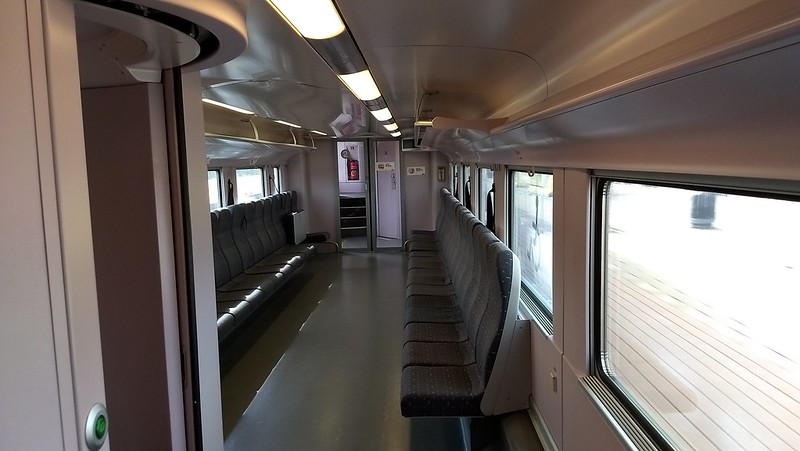Interior of Belgian Intercity train, lower deck