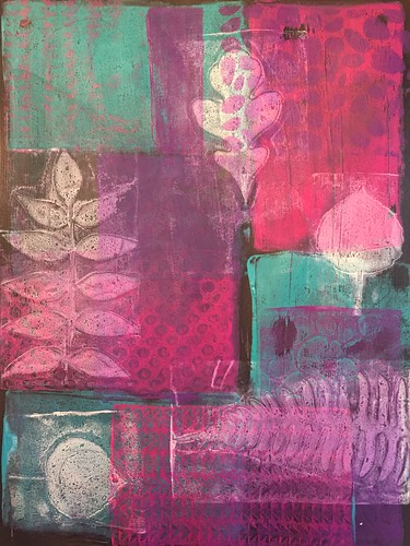 34a Patchwork - Gelli Prints