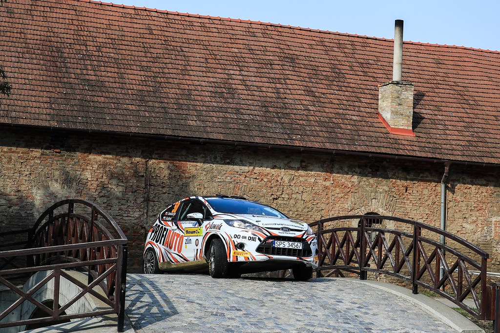 50 TOMASZCZYK Jerzy (POL) KOZDRON Kamil  (POL) Ford Fiesta R2 action during the 2017 European Rally Championship ERC Barum rally,  from August 25 to 27, at Zlin, Czech Republic - Photo Jorge Cunha / DPPI