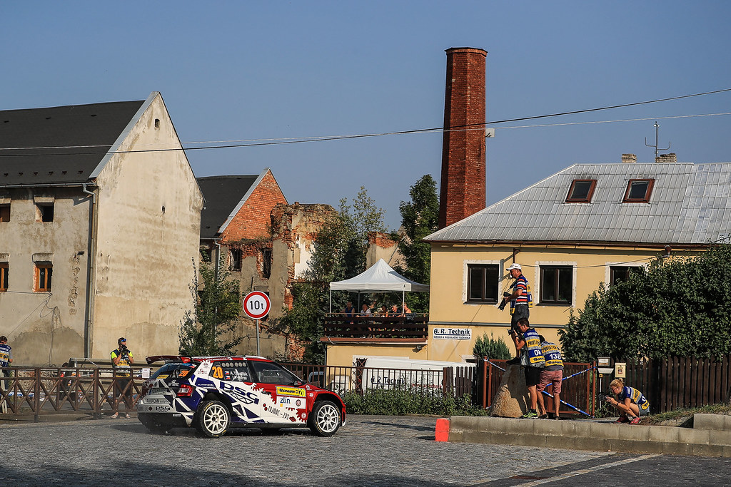 20 TLUSTAK Antonin (CZE) VYBIRAL Ivo (CZE)  Skoda Fabia R5 action during the 2017 European Rally Championship ERC Barum rally,  from August 25 to 27, at Zlin, Czech Republic - Photo Jorge Cunha / DPPI