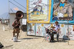 Flaming Tuba and Drumset, Burning Man 2017