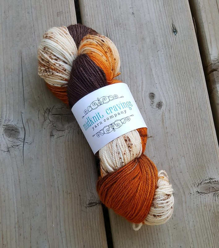 really not feeling well today but I had to make my way down to see @midknitcravings at their pop-up today, so I could get my hands on this Pumpkin Spice Latte! not a fan of the drink but this yarn is so beautiful, it's going on my needles soon! it was so