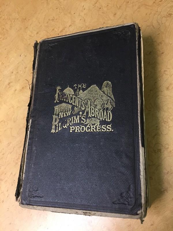Mark Twin's Innocents Abroad and Pilgrim's Progress in the midst of major restoration - Minnesota Book Restoration
