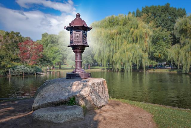 Japanese Lantern Sculpture in Boston Public Garden