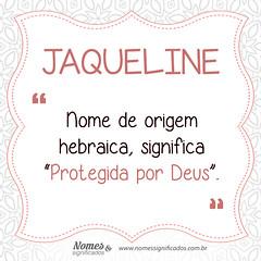 Significado do nome Jaqueline