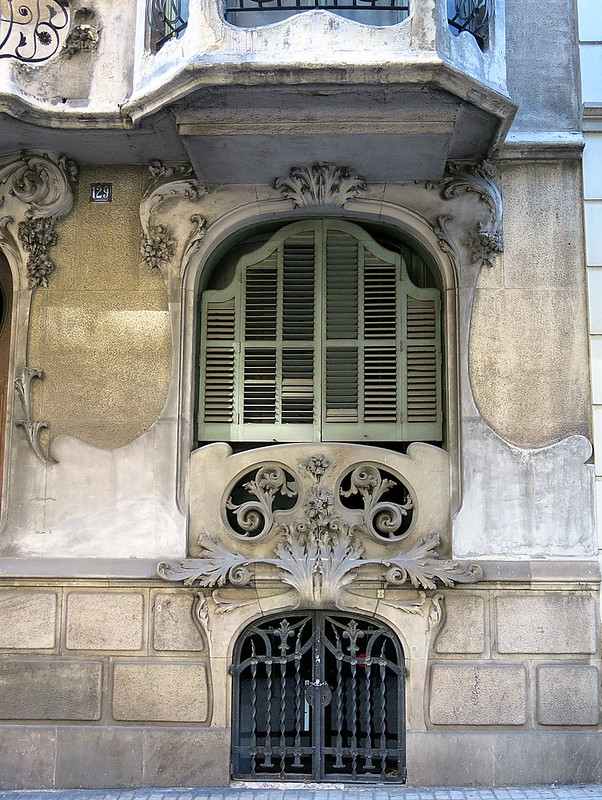 Pale green shutters, the Eixample, Barcelona