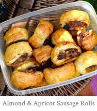 Almond & Apricot Sausage Rolls