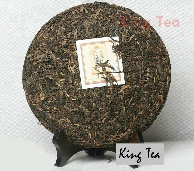 Free Shipping 2009 ShuangJiang MengKu Tea Spirit Beeng Bing Cake 500g China YunNan Chinese Puer Puerh Raw Tea Sheng Cha