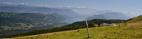 Vue sur le lac du Bourget depuis le Grand Colombier
