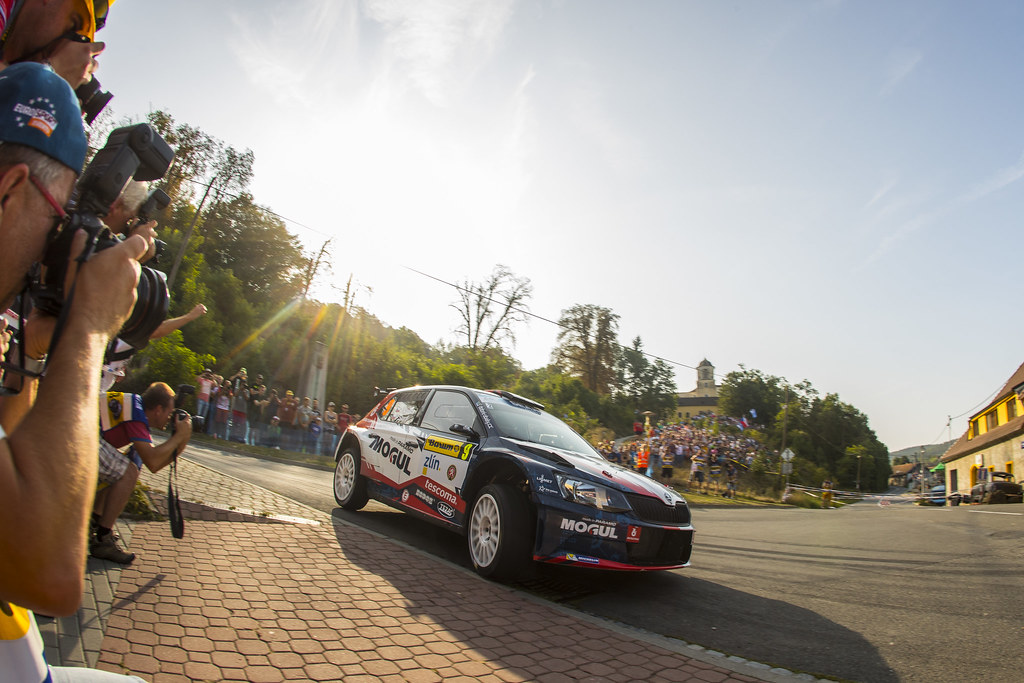 09 KRESTA Roman(CZE) STARY Petr (CZE) Skoda Fabia R5 action during the 2017 European Rally Championship ERC Barum rally,  from August 25 to 27, at Zlin, Czech Republic - Photo Gregory Lenormand / DPPI