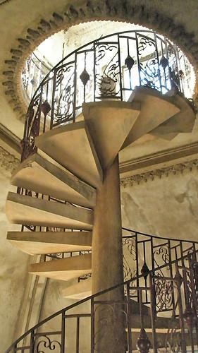 Spiral staircase in Vientiane, Laos