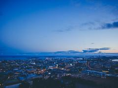 Blue hour: Helsinki downtown