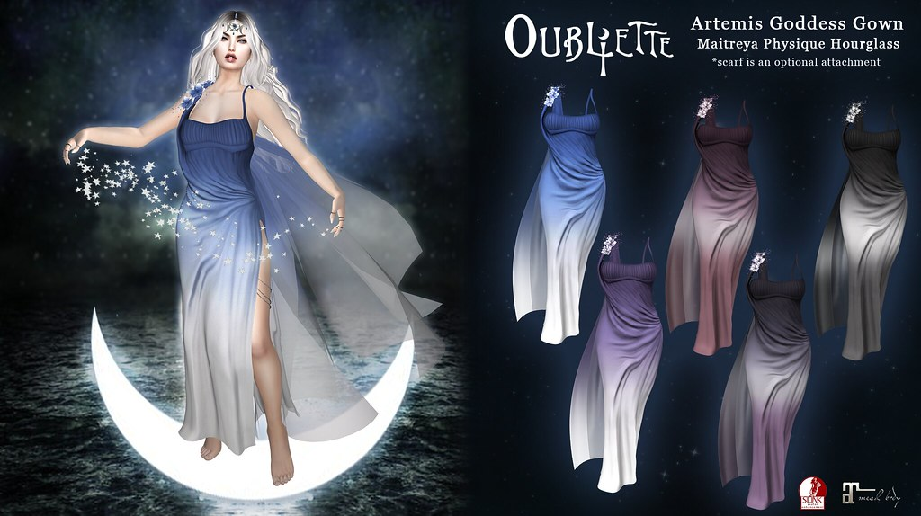 Oubliette- Artemis Goddess Gown - SecondLifeHub.com
