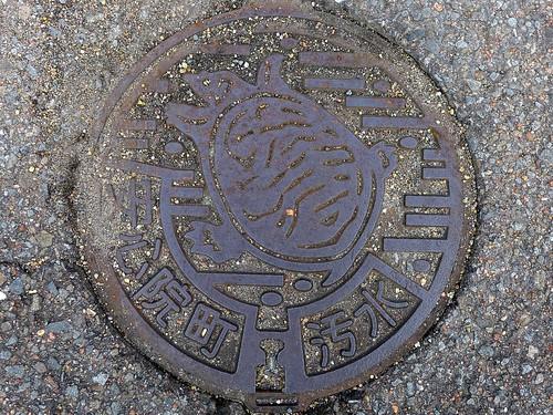 Ajimu Oita, manhole cover 3 (大分県安心院町のマンホール3)