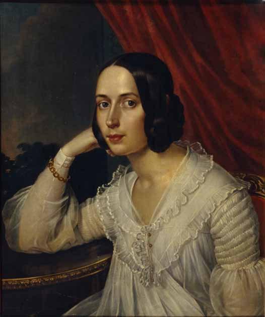 Рейхель, портрет Н.А. Герцен, 1842