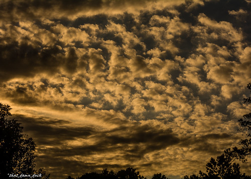 nature clouds sundown sunset