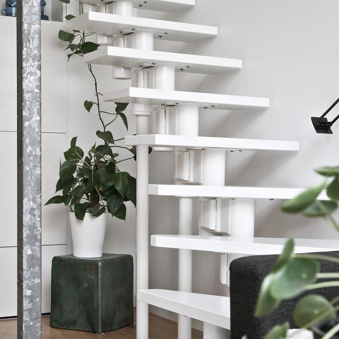 Scandinavian Loft With Brick Walls