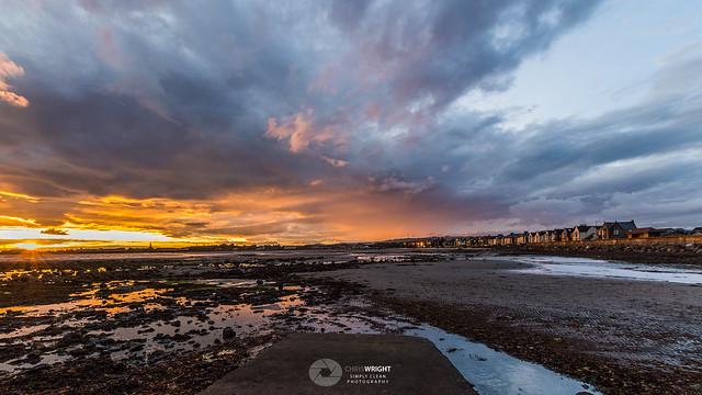 Sunset At Saltcoats North, Nikon D3200, Sigma 10-20mm F3.5 EX DC HSM