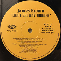 JAMES BROWN:CAN'T GET ANY HARDER(LABEL SIDE-D)