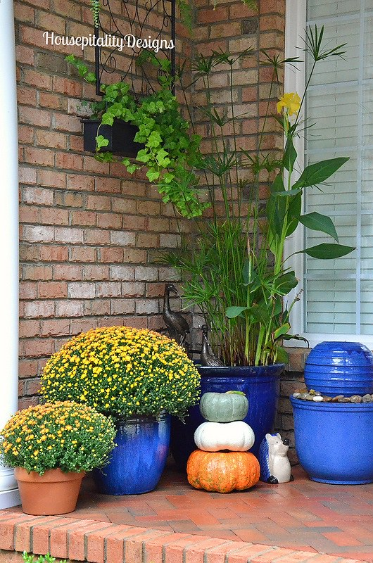 Cobalt Blue Fountains-Planters-Pumpkin Topiary-Housepitality Designs