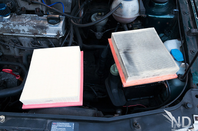 VW GOLF MK3 / New vs Old air filter