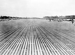 1946 Improved main runway at RAF Changi after completion of laying PSP (Perforated or Pierced Steel Planking or Plating)